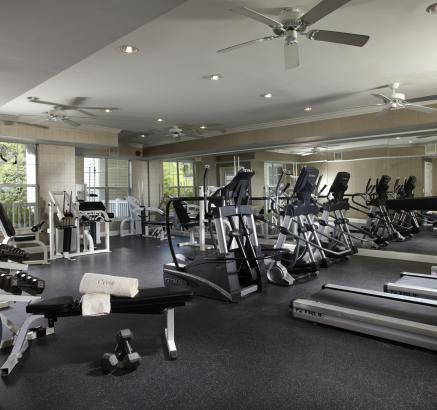 Fitness Center at Camden Crest Apartments in Raleigh, North Carolina