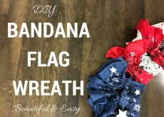 DIY: Beautiful & Easy Bandana Flag Wreath