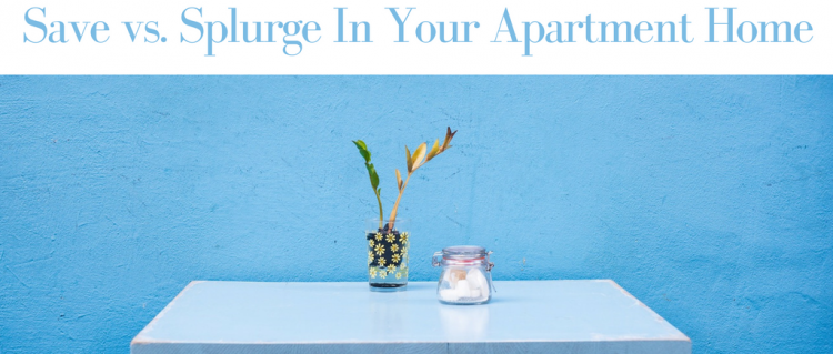 Save vs. Splurge In Your Apartment Home